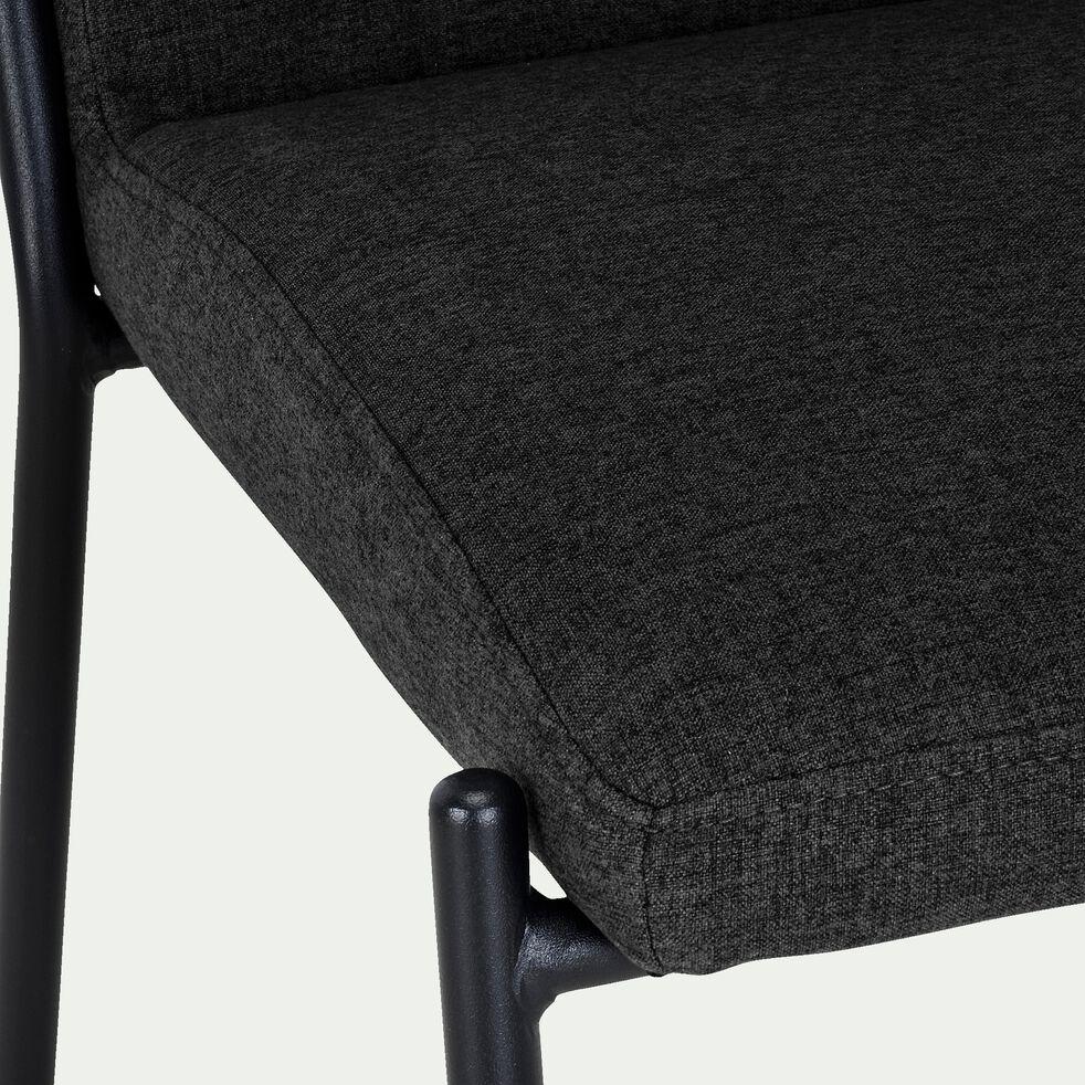 Chaise en tissu - noir-JASPE