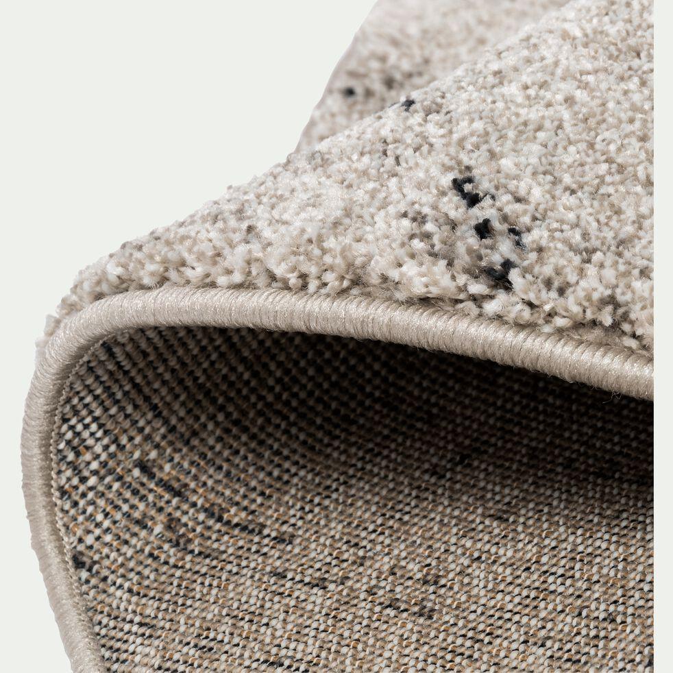 Tapis rond moucheté - gris clair D160cm-STESSY