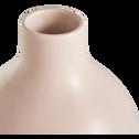 Vase en céramique rose H30cm-HYDRIE