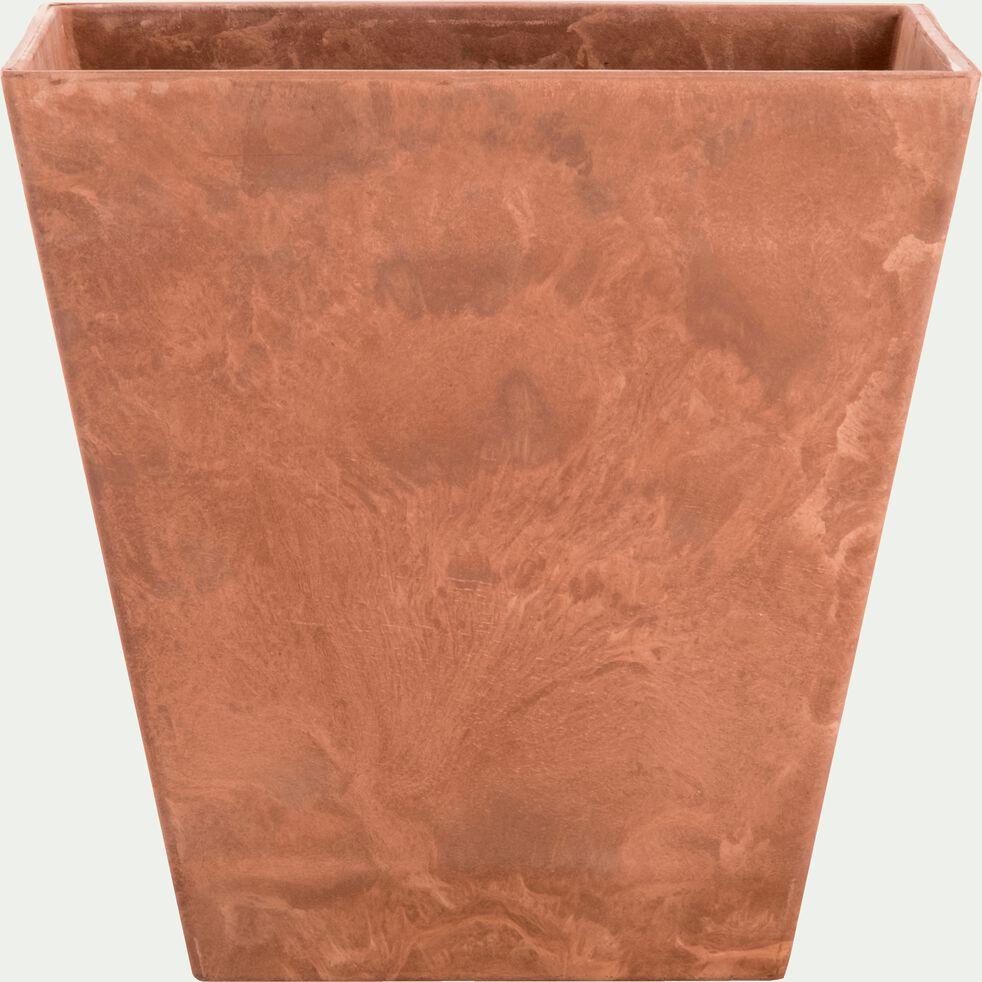 Pot à réserve d'eau - marron H29cm-ELLA