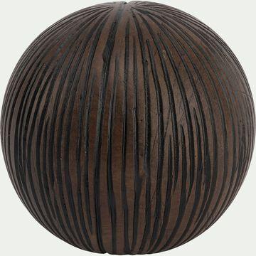 Boule déco en résine marron D10cm-SAMAYA