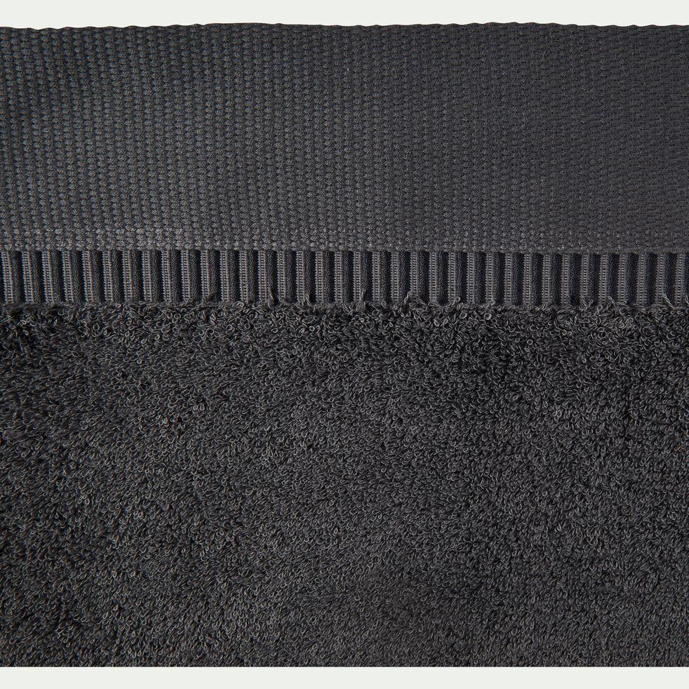 Drap de bain bouclette en coton égyptien - gris 100x150cm-ARROS