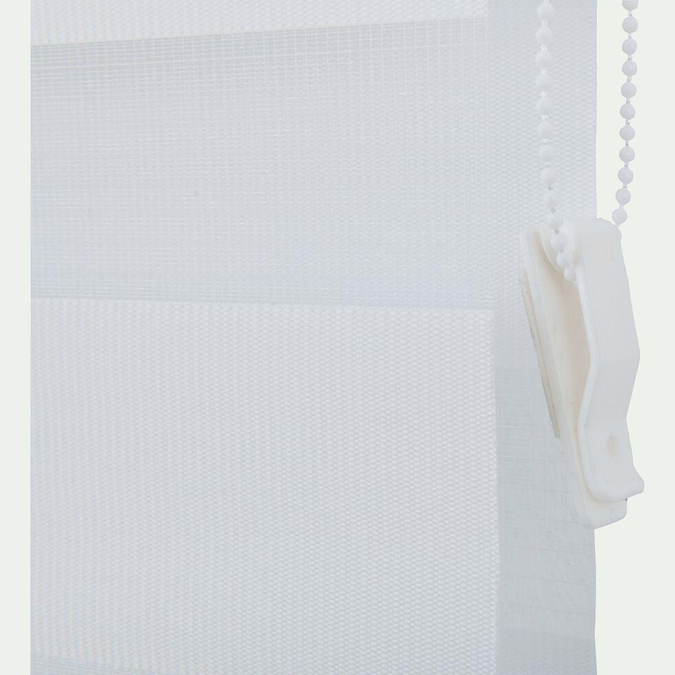 Store enrouleur tamisant - blanc 102x190cm-JOUR-NUIT