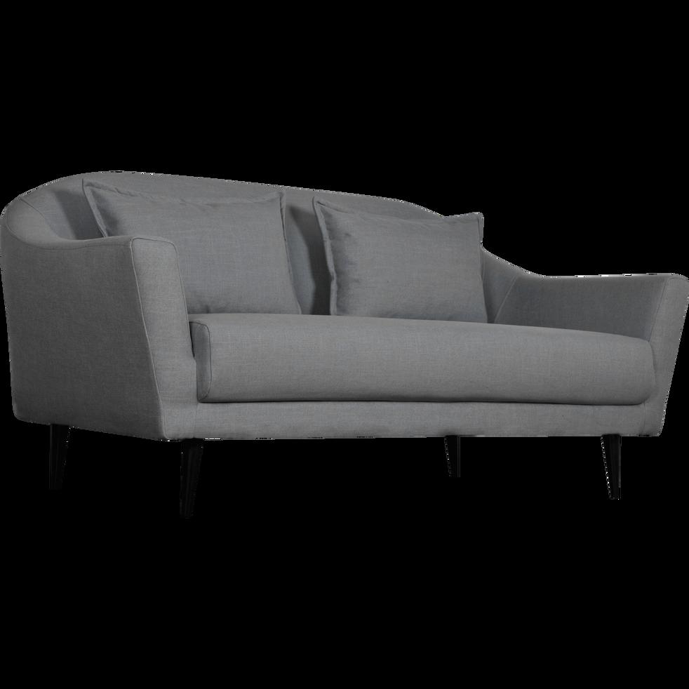 Canapé 3 places fixe en tissu gris restanque-VENUS