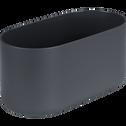 Cache-pot gris anthracite H13xL27cm-B FOR