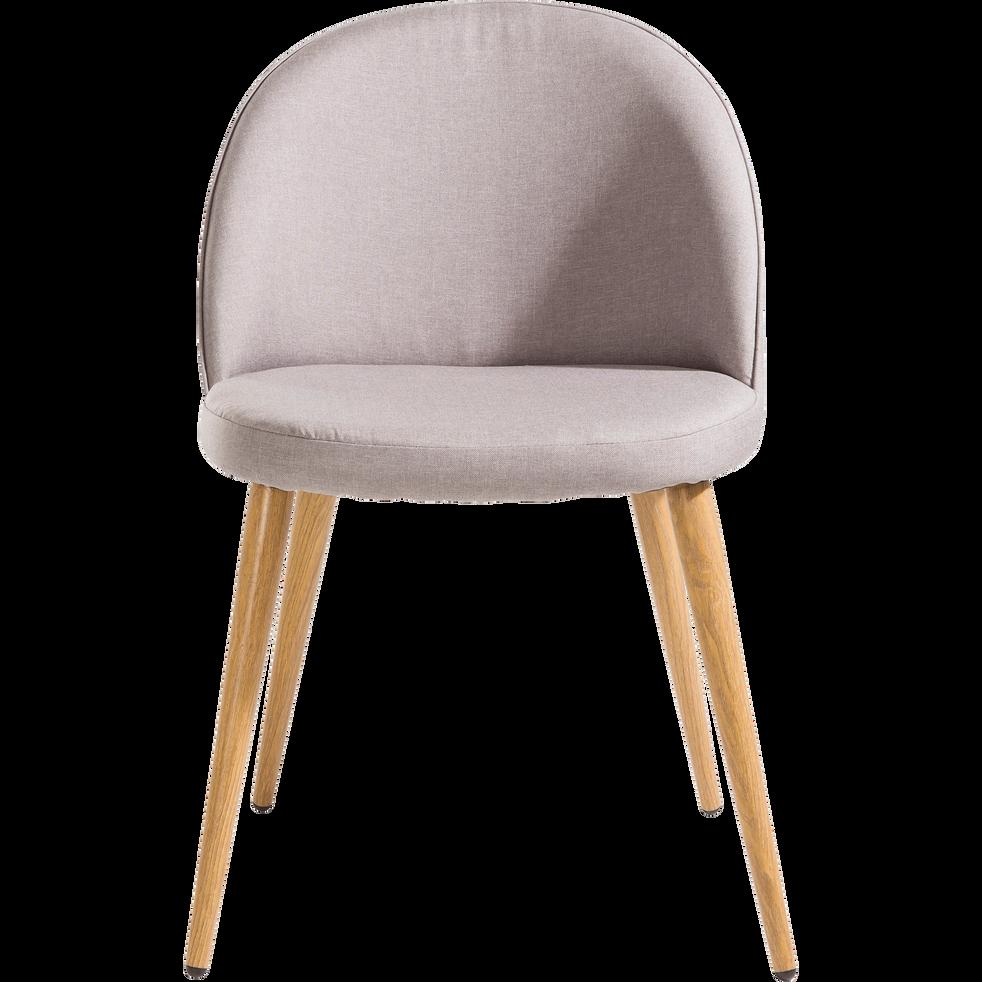 Chaise en tissu gris clair-ROMANE