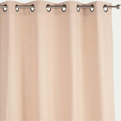 Rideau à œillets en ramie et coton - beige roucas 130x250cm-RAMY