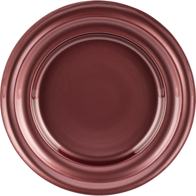 Assiette à dessert en verre rouge D23,4cm-LISA