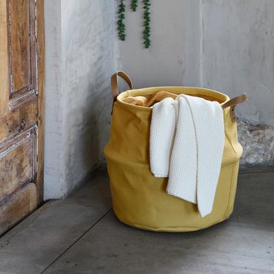 Panier en tissu beige estérel D40cm-CARINO
