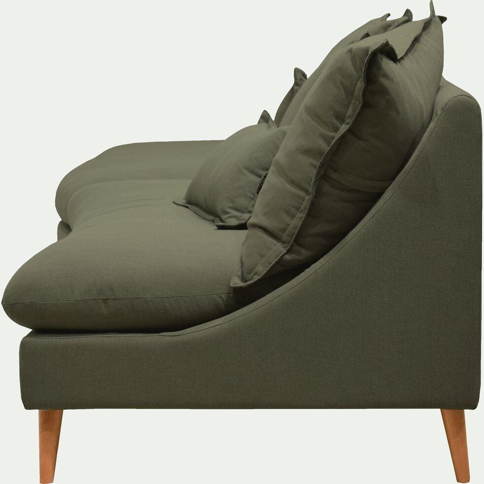 Canapé convertible 5 places en tissu - vert cèdre-LAMO