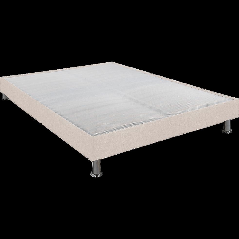 Sommier tapissier Alinéa 15 cm Lin - 160x200 cm-DECOCONFORT