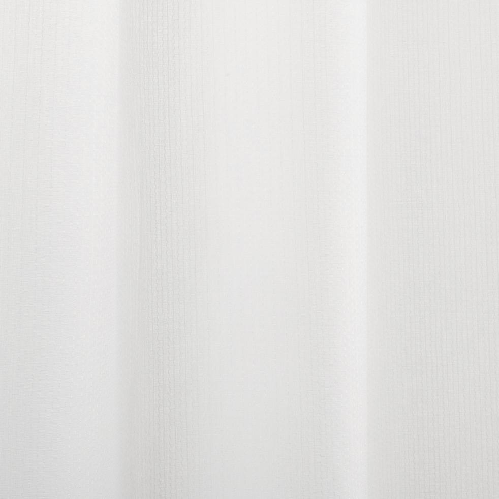 Voilage à œillets blanc 140x260cm-ZOE