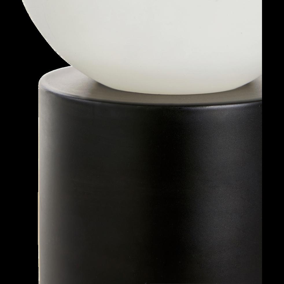 Lampe à poser en laiton noir mat H23xD12cm-BILL