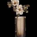 Vase en verre marron H32cm-LEOPOLD