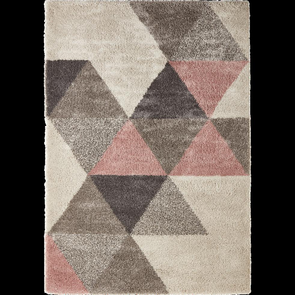 Tapis rose à motifs géométriques 160x230cm-OSLO