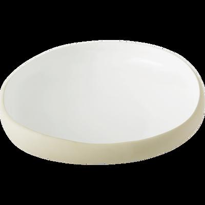 Saladier en grès blanc ventoux D27cm-KYMA