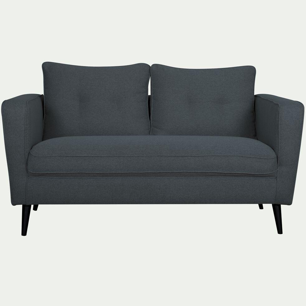 Canapé fixe 2 places en tissu - bleu céou-BARTHOLE