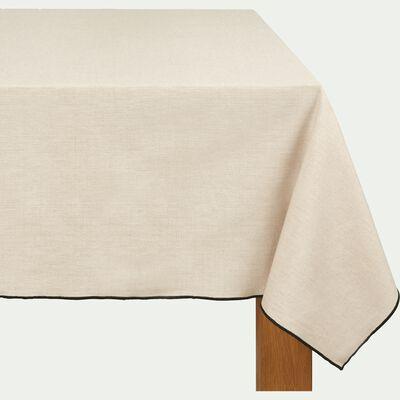 Nappe en coton blanche et noire 170x350cm-LINIA