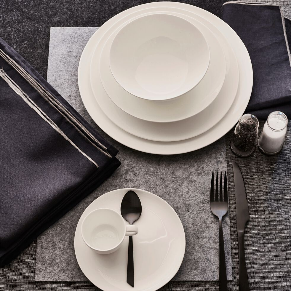 Set de table en feutrine gris 30x45cm-JAURES