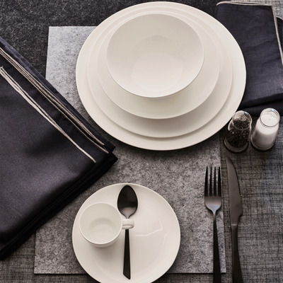 Set de table en feutrine gris 30x45cm-JAURES