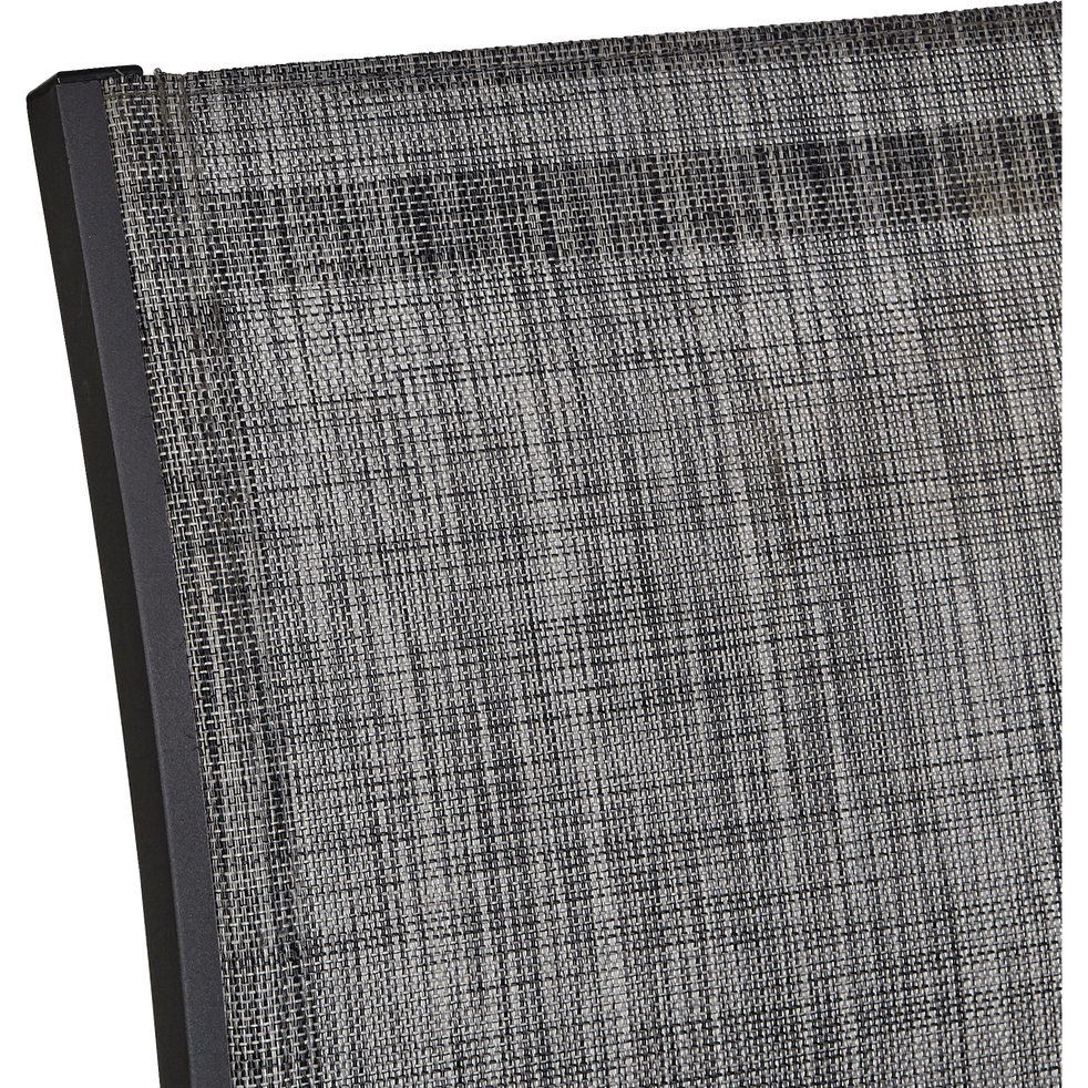 Fauteuil de jardin empilable gris anthracite en textilène-ELSA