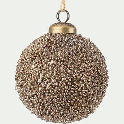 Boule de Noël perlée - doré D10,5cm-AGATHON