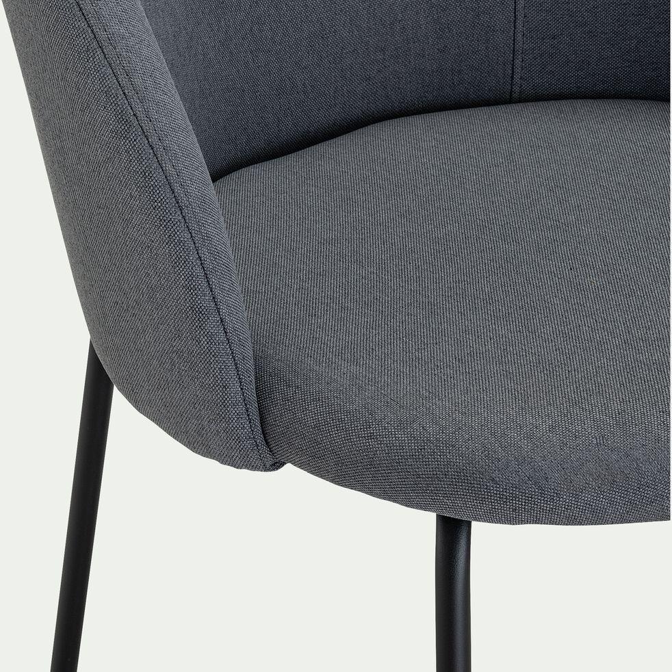Chaise en tissu - gris restanque-FAUVETTE