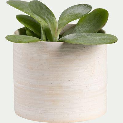 Cache-pot en céramique D10xH8,5cm - blanc ventoux-Martin