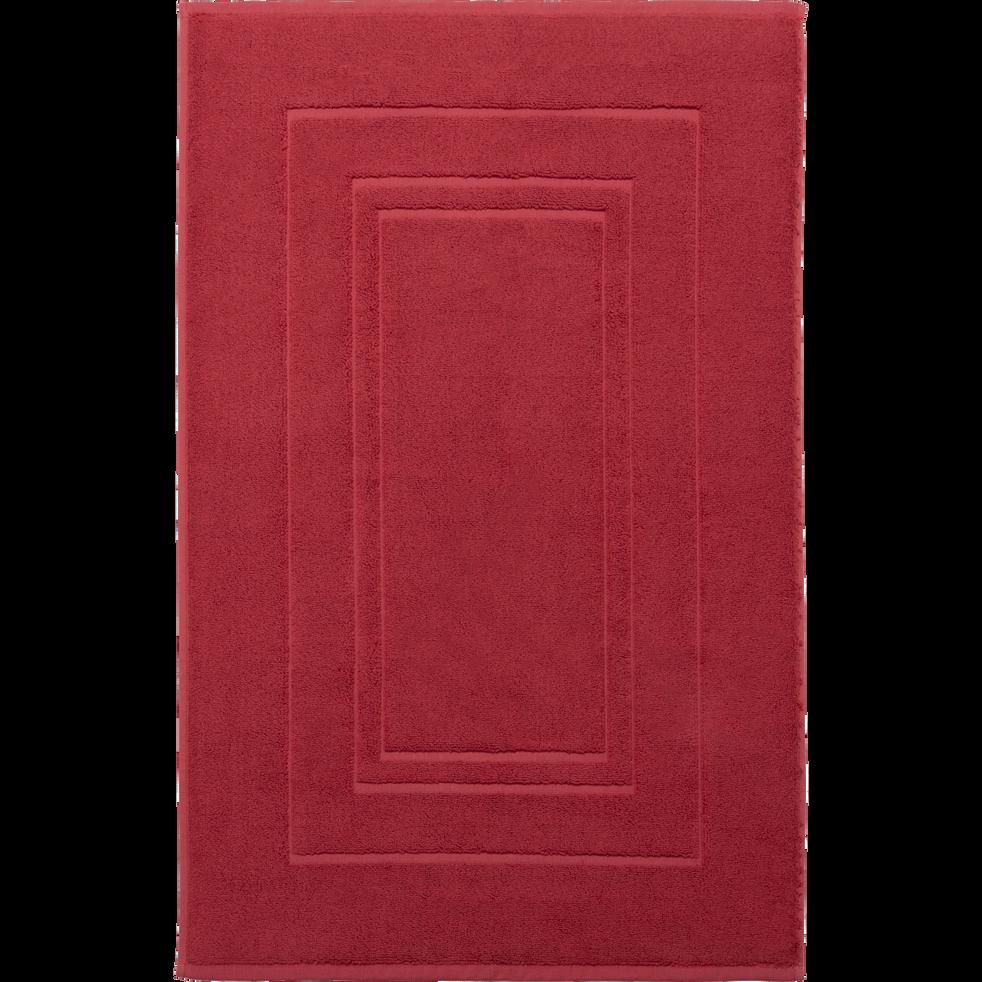 Tapis de bain en coton 50x80cm rouge arbouse-AZUR