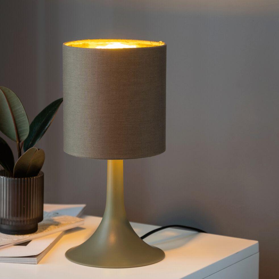 Lampe à poser vert cèdre H27cm-FIRST