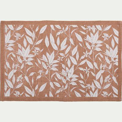 Set de table en jute à motif fleur d'oranger 30x45cm-UZES