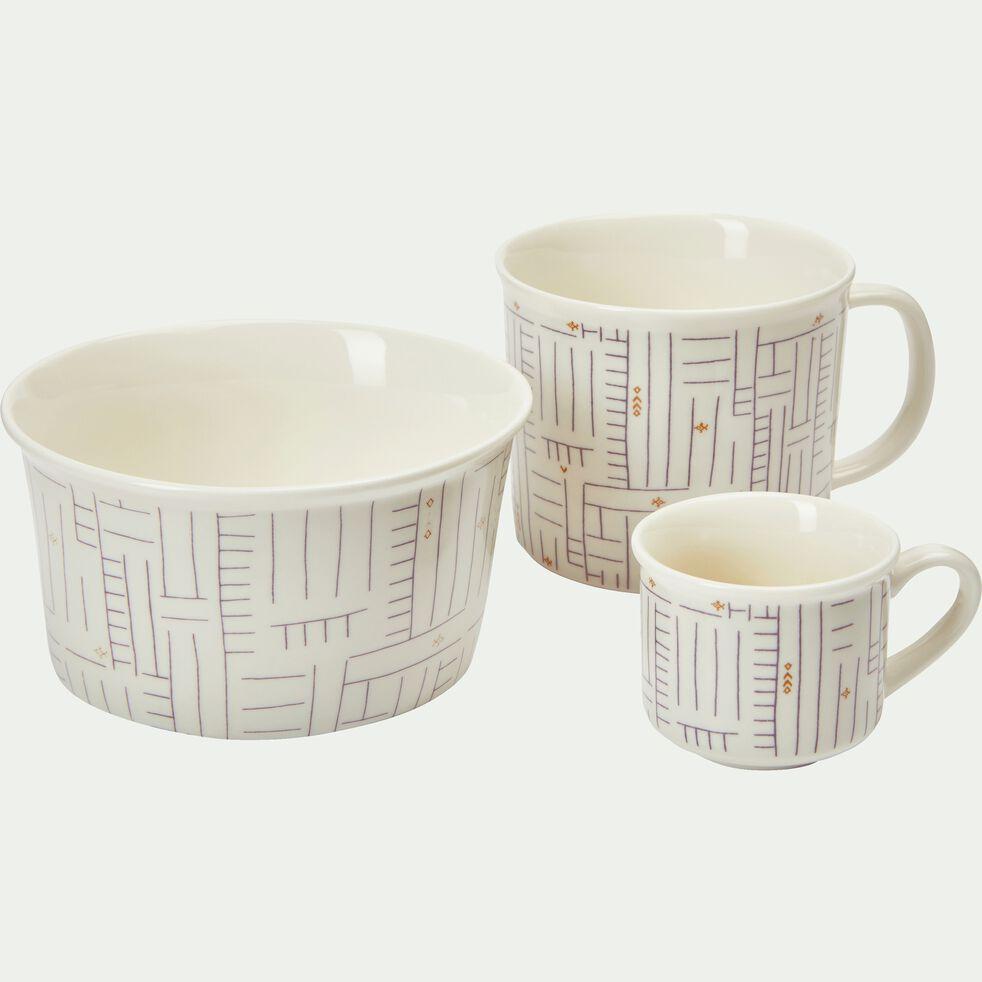 Coupelle en porcelaine blanche à motif D12,5cm-CAFI