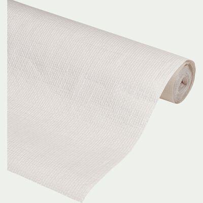 Nappe en papier gaufre 5X1,20m - blanc-UNI