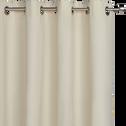 Rideau à oeillets en coton beige roucas 140x250cm-CALANQUES
