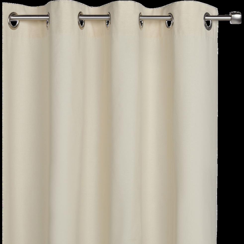 Rideau à oeillets en coton beige roucas 140x250cm - CALANQUES ...