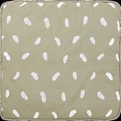Tapis pour tipi 100x100 cm vert olivier-LUENS