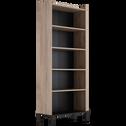 Colonne de rangement avec étagères finition chêne L80-CASTEL