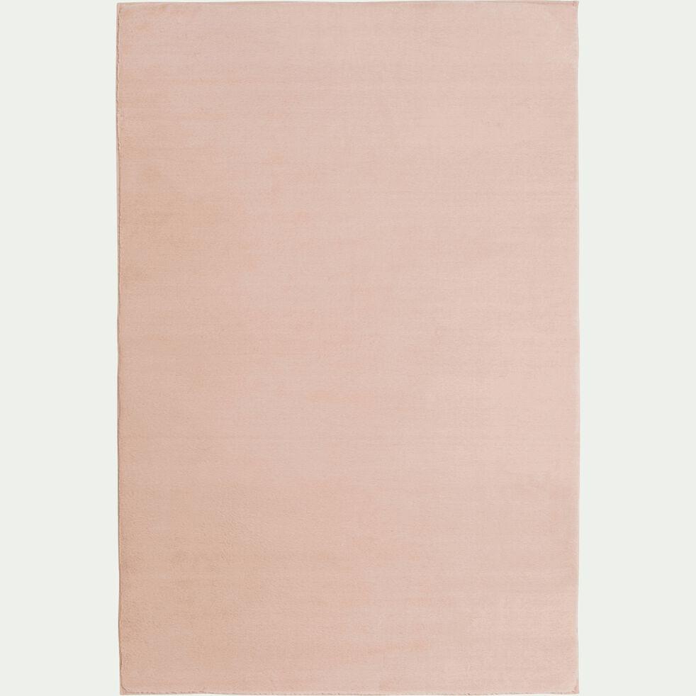 Tapis imitation fourrure - rose argile 150x200cm-ROBIN