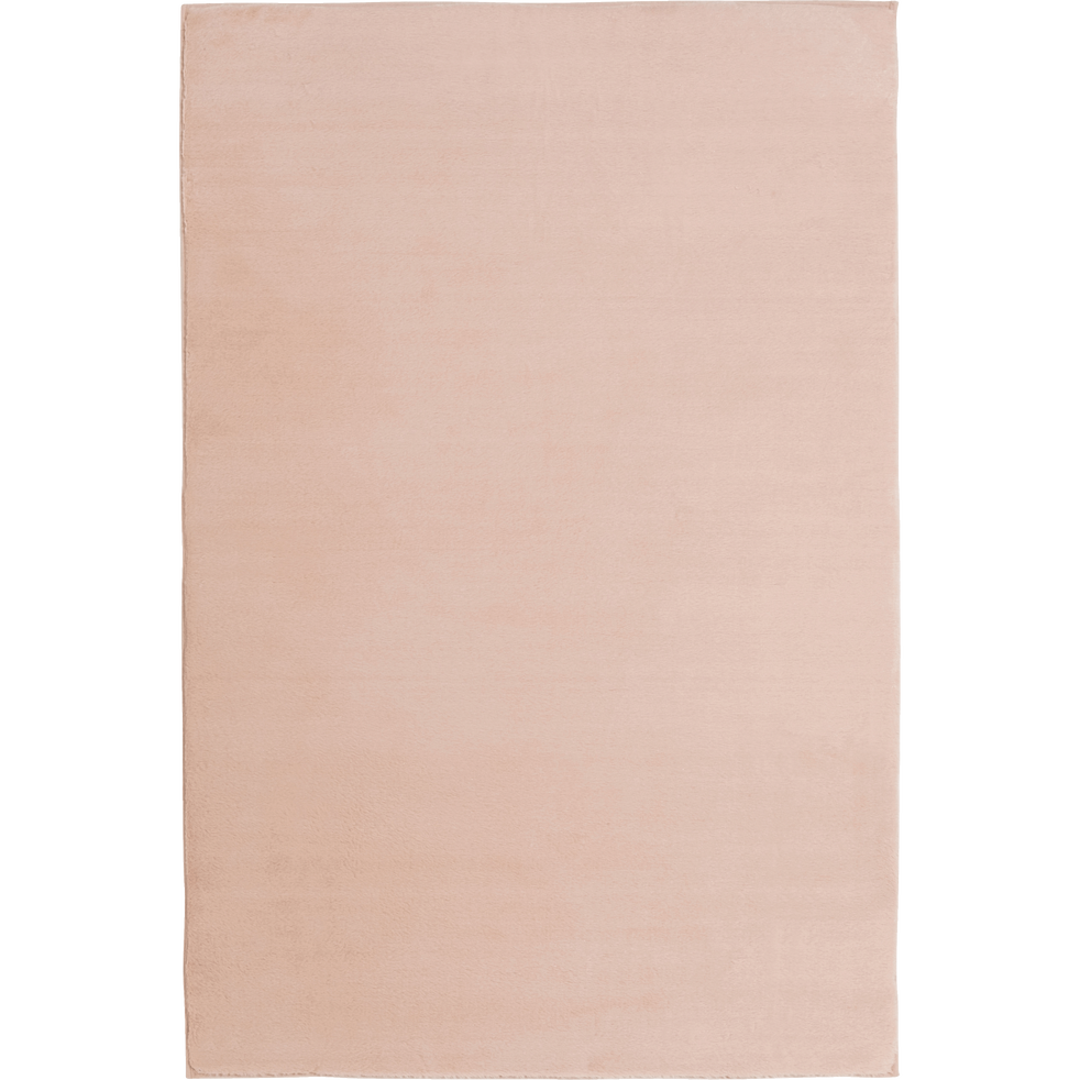 Tapis imitation fourrure rose argile 150x200cm-ROBIN