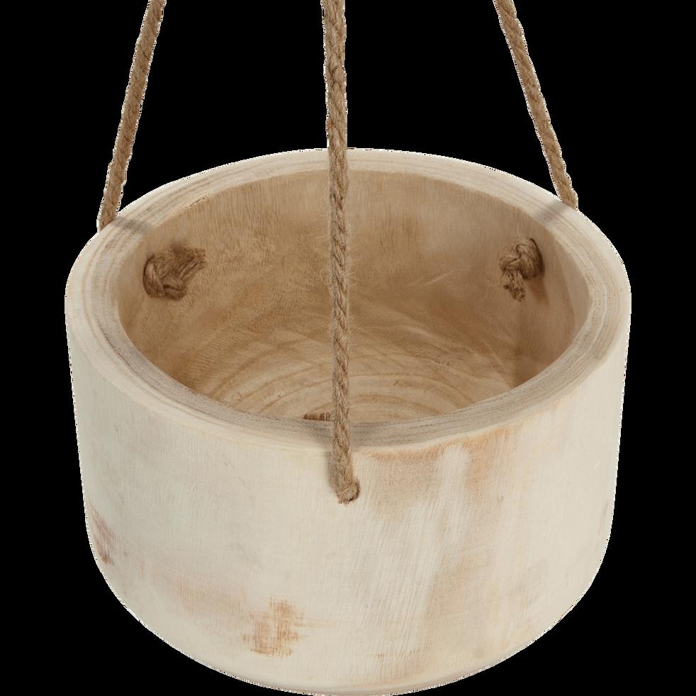Pot à suspendre en bois de paulownia H15xD26cm-BOTA