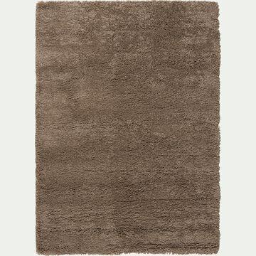 Tapis à poils longs taupe 160x230cm-Kris