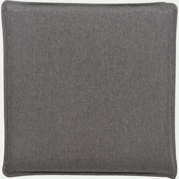 Coussin de chaise déperlante gris 50x50cm-OPIO