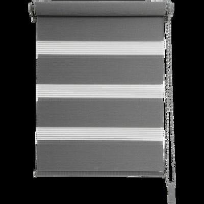 Store enrouleur tamisant gris anthracite62x190cm-JOUR-NUIT