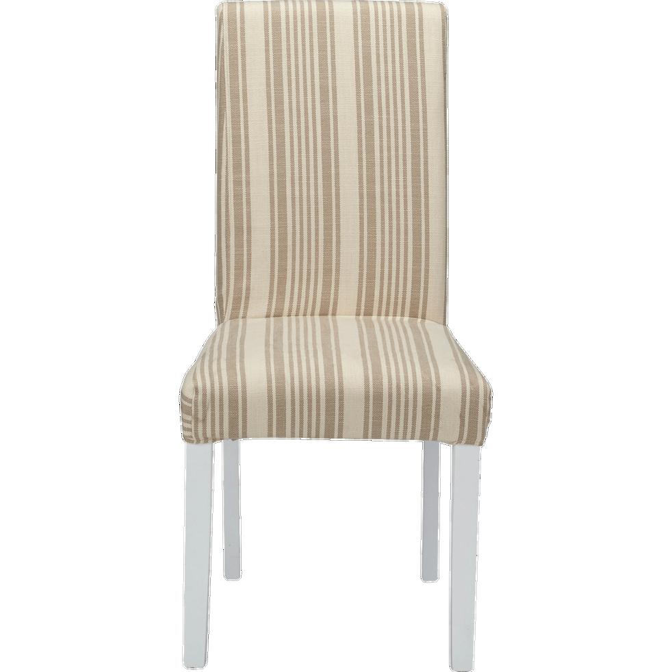 housse de chaise beige rayures monroe chaises alinea. Black Bedroom Furniture Sets. Home Design Ideas