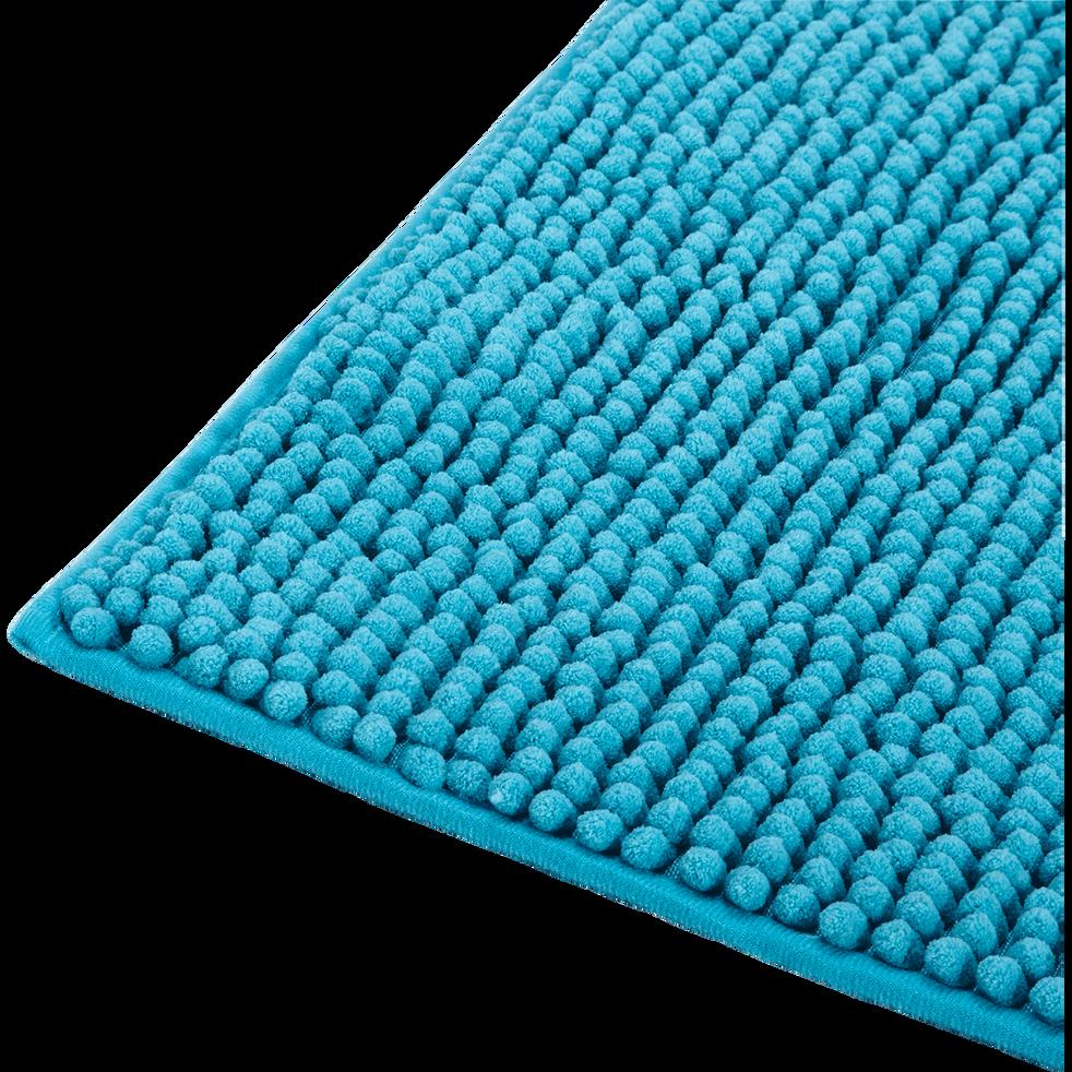 Tapis de bain 50x80cm bleu turquoise-PICO