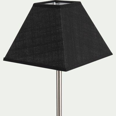 Abat-jour carré - noir D25cm-MISTRAL