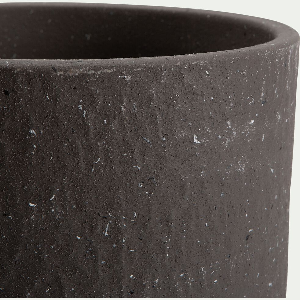 Pot en terre cuite - H22xD24cm gris-PIETRALBA