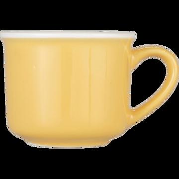 Tasse en porcelaine beige esterel 9cl-CAFI