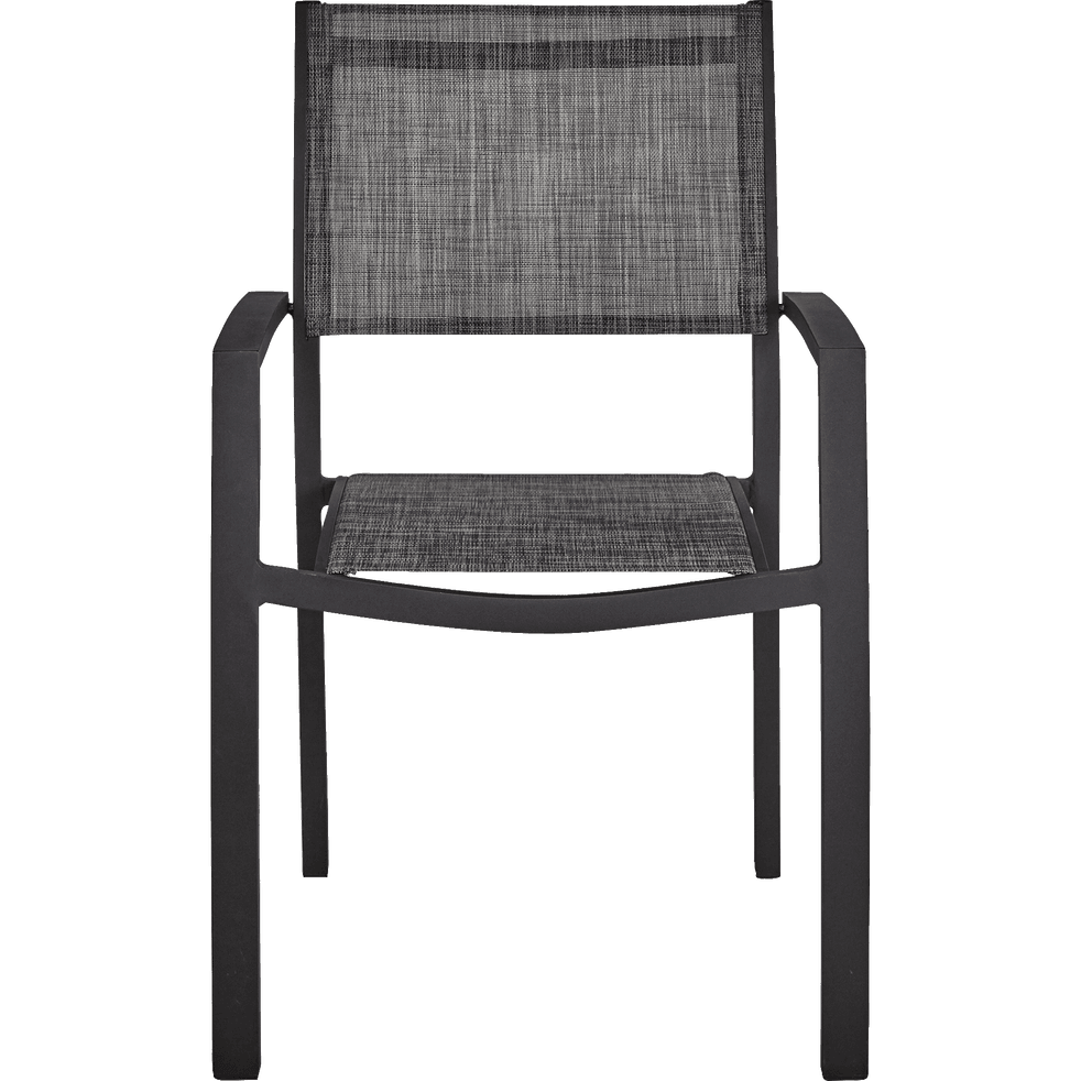 fauteuil de jardin empilable gris anthracite en textil ne elsa catalogue storefront alin a. Black Bedroom Furniture Sets. Home Design Ideas