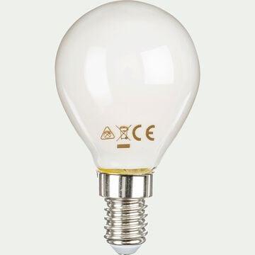 Ampoule LED à filament ronde culot E14 - blanc neutre-STANDARD
